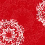 Openwork circular ornament — Stock Vector