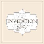 Vintage wedding invitation — Stock Vector