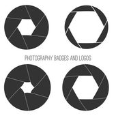 Vector collection of photography logo templates. Photocam logotypes. Photography vintage badges and icons. Photo labels. — Stock Vector