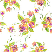 Seamless pattern  Watercolor Vector Flowers. Vector Watercolour Flowers. — Stock Vector