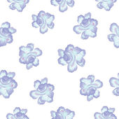 Seamless pattern  Watercolor Vector Flowers. Vector Watercolour Flowers. — Wektor stockowy