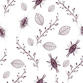 Simple floral seamless pattern background. Doodle style — Stock vektor