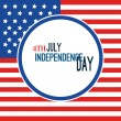 Happy 4th of July - Independence Day Vector Design - July — Stock Vector #76944285