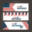 Happy 4th of July - Independence Day Vector Design - July — Stock Vector #76944215