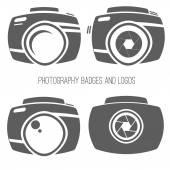 Colección de vectores de fotografía logotipo plantillas. Photocam logotipos. Fotografía vintage insignias y los iconos. Etiquetas de la foto. — Vector de stock