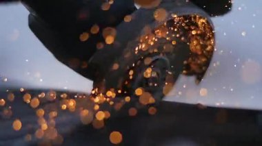 Sparks from metal tool — Stok video