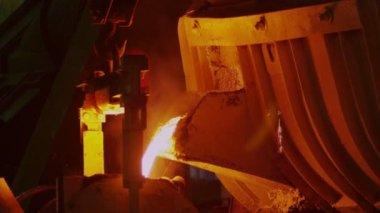 Metal production on Metallurgical Plant — Stock Video