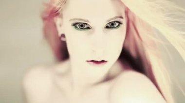 Beauty Portrait of Womans Face — Stockvideo