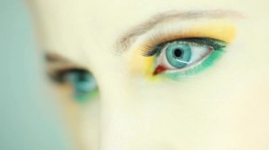 Beautiful woman eye close up — Stock Video