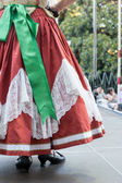 Falleras costume fallas dress detail from Valencia Spain fest ce — Stock Photo