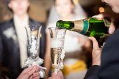 Okulary z szampanem — Zdjęcie stockowe