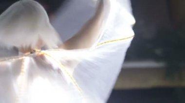 Actress girl dancing — Stock Video