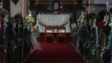 Wediing ceremonii w kościele — Wideo stockowe