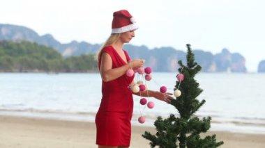 Christmas girl — Stock Video