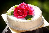 Creamy delicious cake — Stock Photo