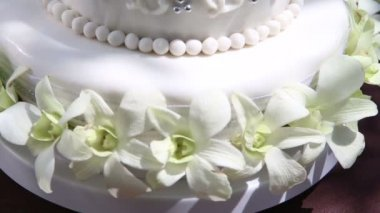Beautiful Wedding cake — Stock Video