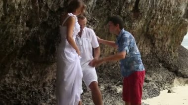 Wedding couple photo shoot — Stock Video