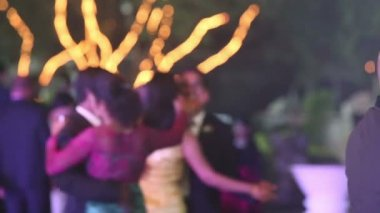 People dance at wedding party — Stock Video