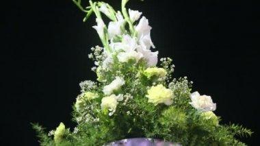 Brudkläder blomma sammansättning — Stockvideo