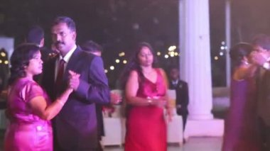 People dancing at wedding party — ストックビデオ