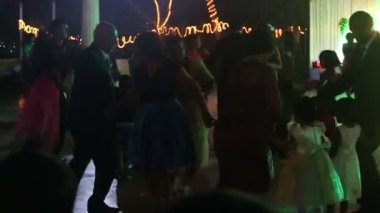 People dancing at wedding party — Stock Video