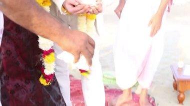 Indian wedding ceremony. — Stock Video
