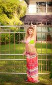 Girl in bikini at summer — Stock Photo