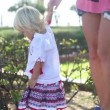 Little  girl walking with mother — Stock Video #72146547