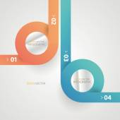 Minimal infographics. Modern infographics options banner. Vector illustration. — Stock Vector