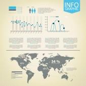 Infographics öğeleri kümesi. — Stok Vektör