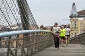 Participants au cours du marathon international de cracovie — Photo