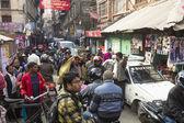 Traffic jam in city center — Stock Photo
