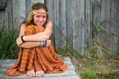 Hippie girl — Stock Photo