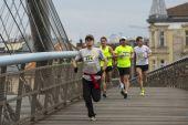 Participantes não identificados da maratona internacional de cracóvia — Fotografia Stock