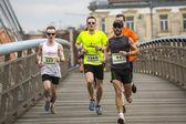 Participants non identifiés du marathon international de cracovie — Photo