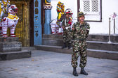Guard of King Tribhuwan Memorial Museum — Stock Photo