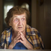 Old restless emotional woman — Stock Photo