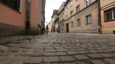 Paving in old city (movement camera) HD — ストックビデオ