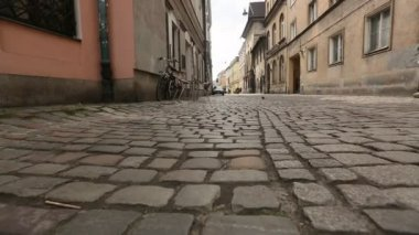 Paving in old city (movement camera) HD — Vídeo de Stock