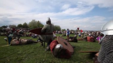 Rekawka - Polish tradition, celebrated in Krakow on Tuesday after Easter. — Stock Video