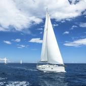 Sailboat on the open sea — Stock Photo
