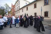 Way of the Cross  in Krakow. — Stock Photo