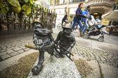 Figurines dwarfs in Wroclaw — Stock Photo