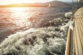 Yacht, sea overboard — Stock Photo