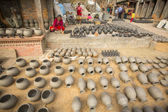 People in pottery workshop — Stock Photo