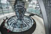 Modern dome on Reichstag — Stock Photo