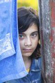 Teen girl outdoors — Stock Photo