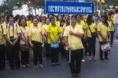 Unidentified participants in celebration in Bangkok — Stock Photo