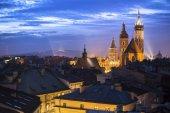Historic center of Krakow — Stock Photo