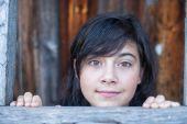 Teen girl in countryside. — Stock Photo